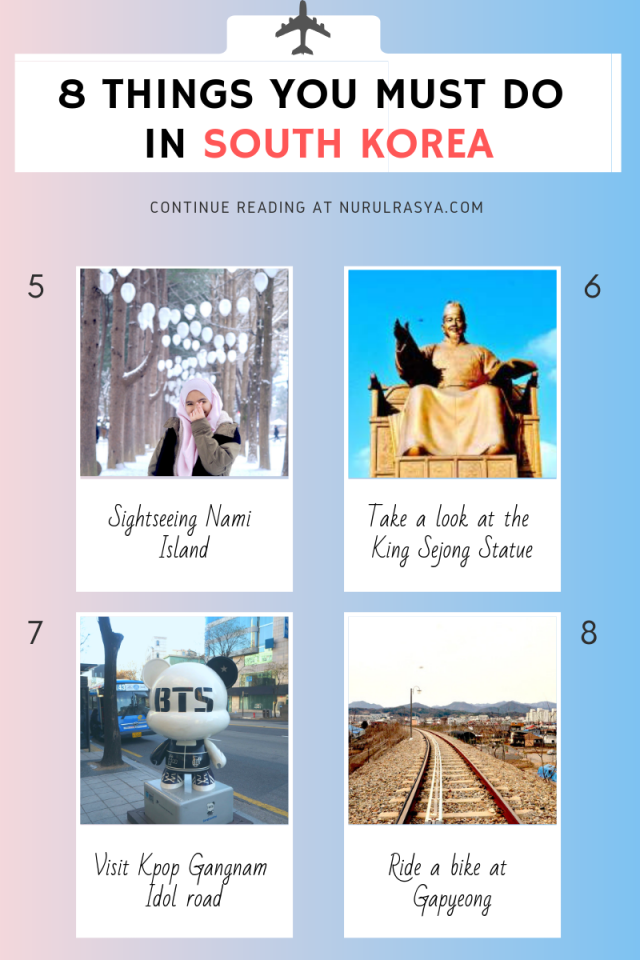 8 Things You Must Do In Korea INFOGRAPHIC 2