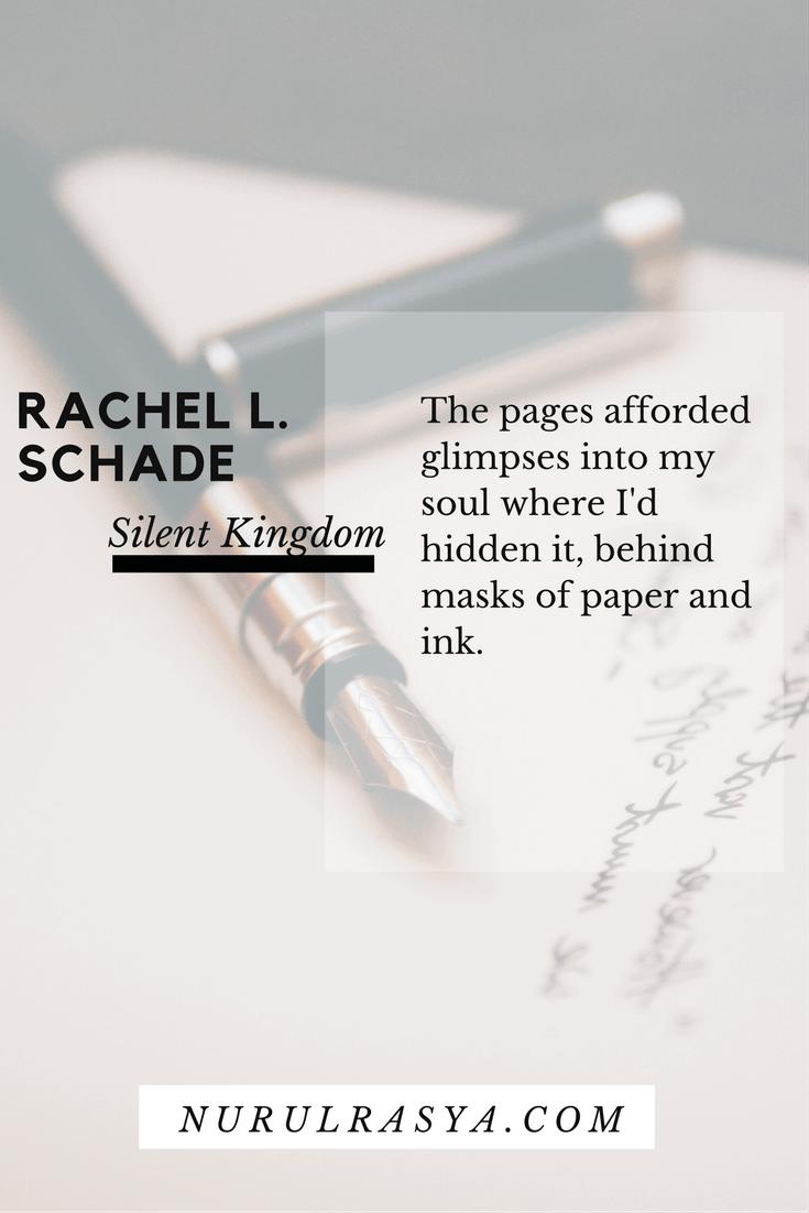 Book Quotes Rachel L. Schade Silent Kingdom