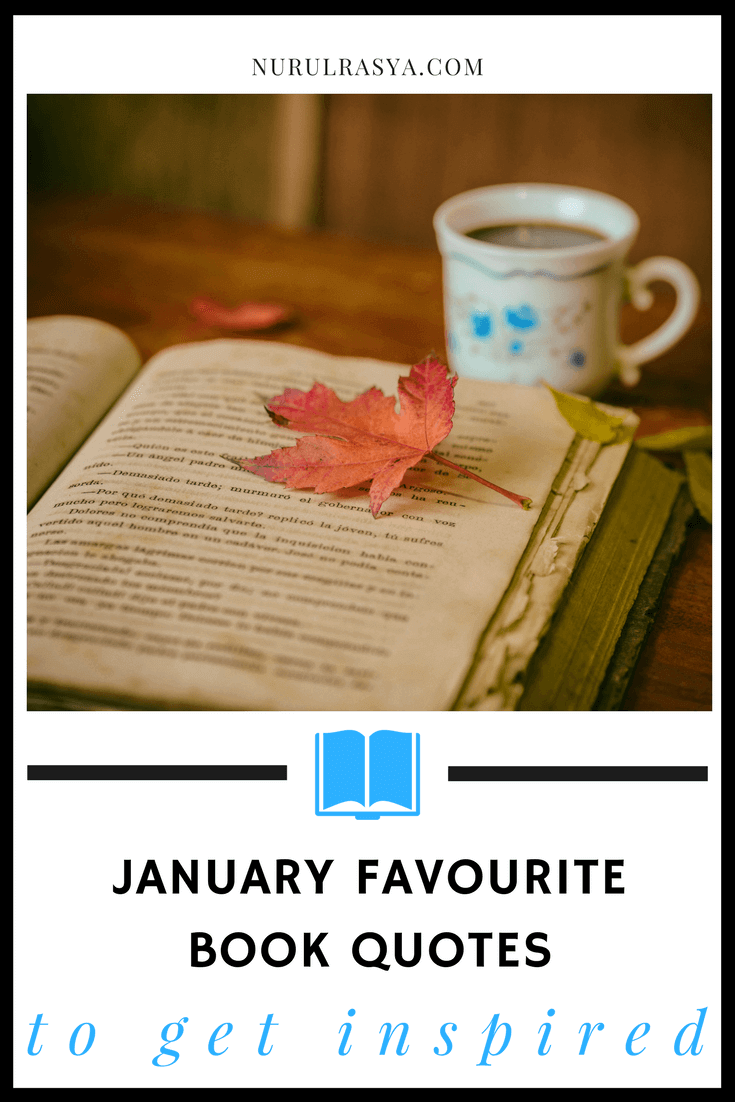 January Favourite Book Quotes To Get Inspired
