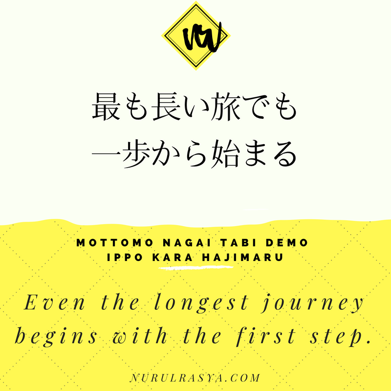 Japanese Quotes Long Trip Called Life Nurul Rasya