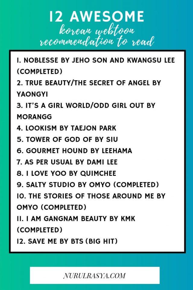 Korean Webtoon Recommendation List
