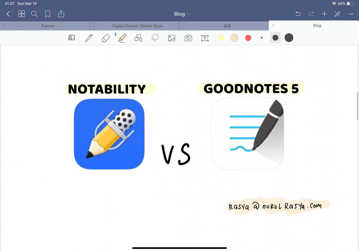 Goodnotes vs Notability