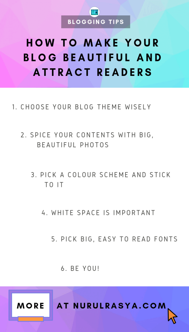 INFOGRAPHIC How To Make Your Blog Beautiful And Attract Readers