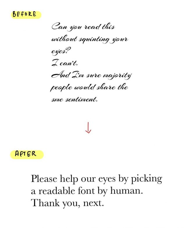 How to make your blog beautiful and attract readers; Readable font