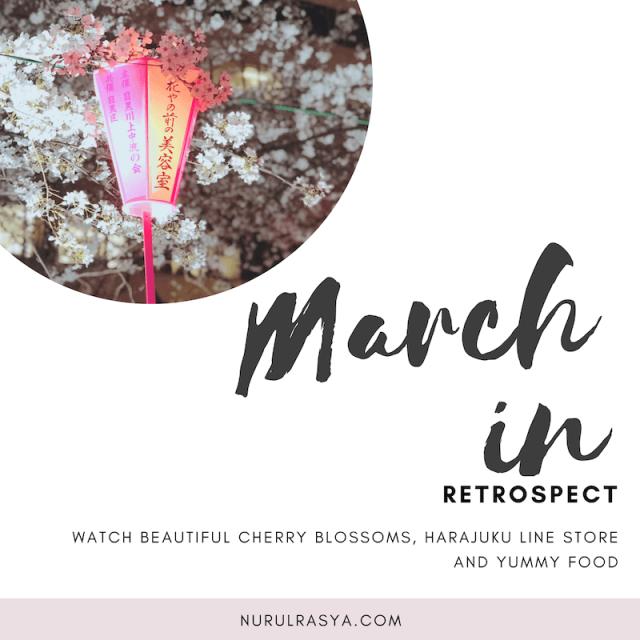cherry blossoms galore; march in retrospect
