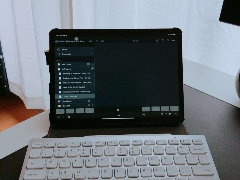 Blogging-iPad-Pro-Bluetooth-Keyboard