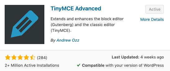 Tiny MCE Advanced