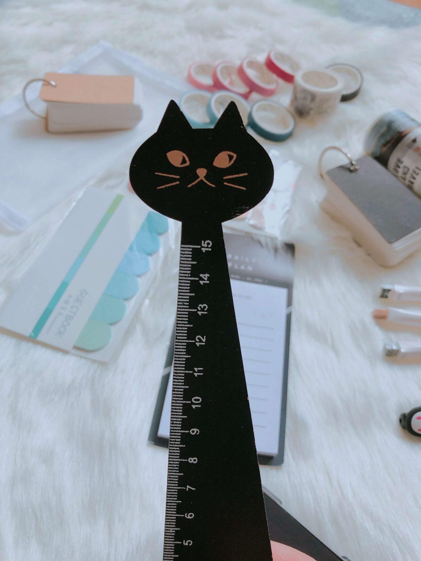 Cat shaped ruler
