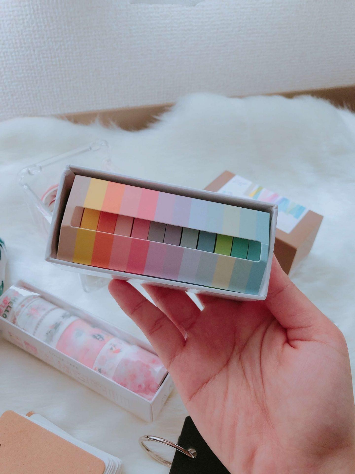 Coloured washi tape