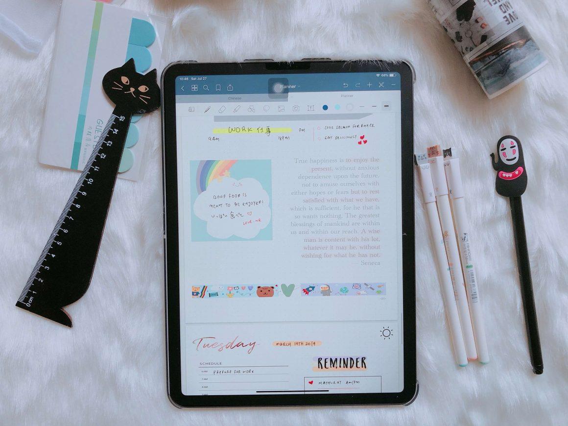 Cute stationery haul feat iPad Pro