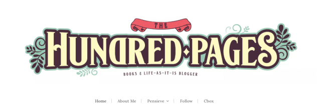 book bloggers; The Hundred Pages