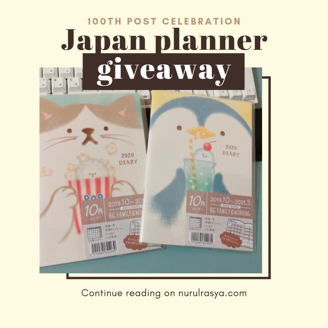 Japan planner giveaway