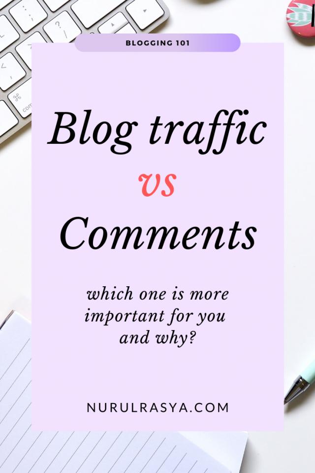 Blog Traffic vs Comments