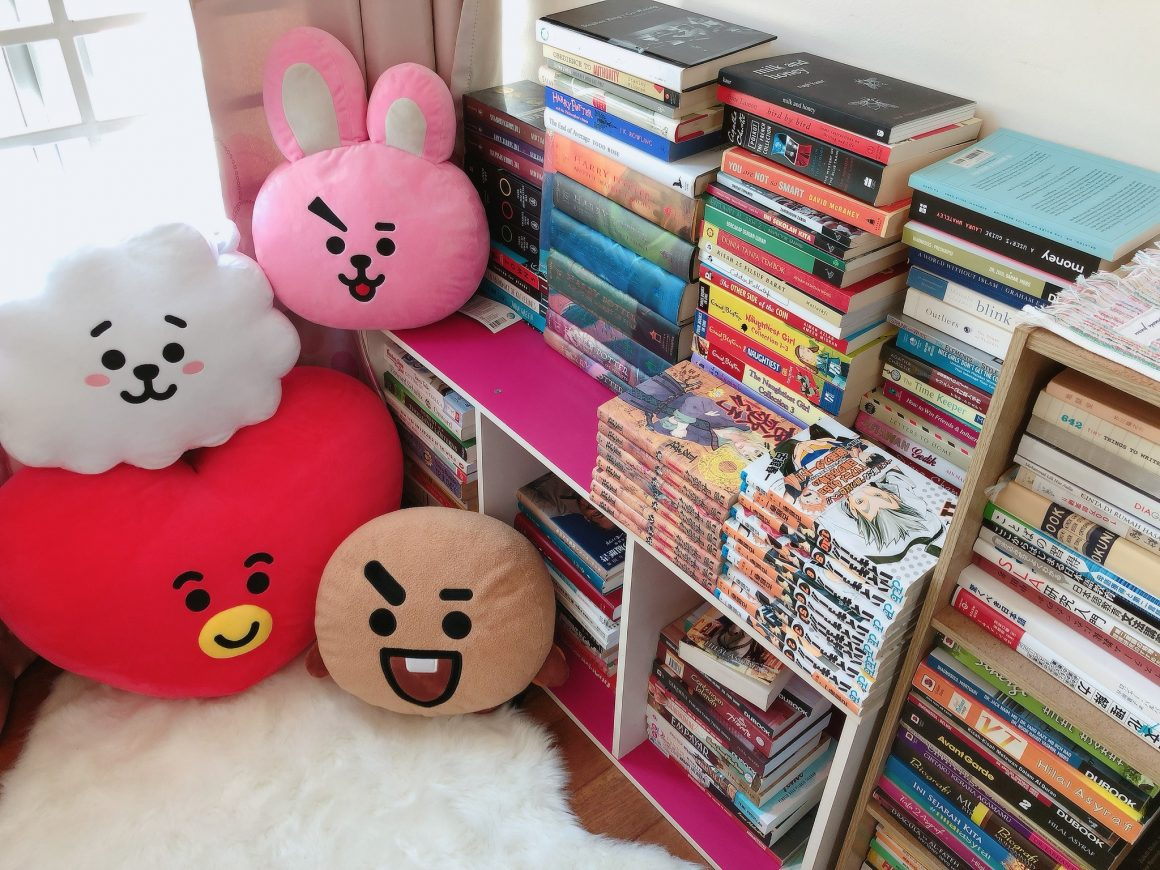 My cute reading nook feat BTS BT21 toys