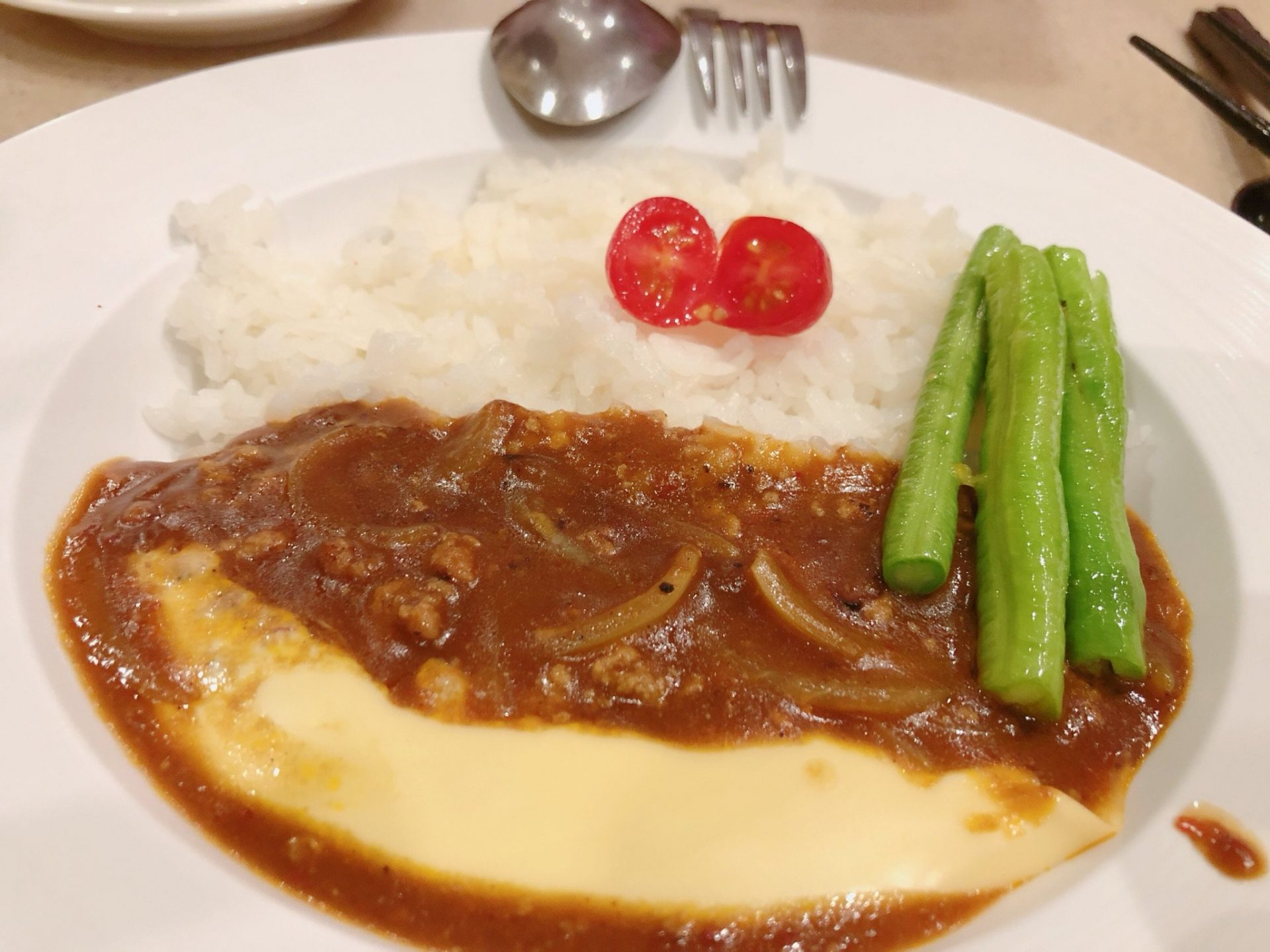 Cheese Beef Curry Rice
