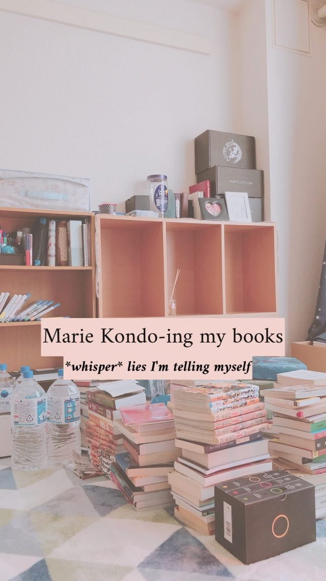 Cleaning my bookshelves
