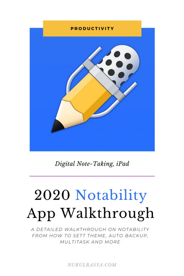2020 Notability App Walkthrough