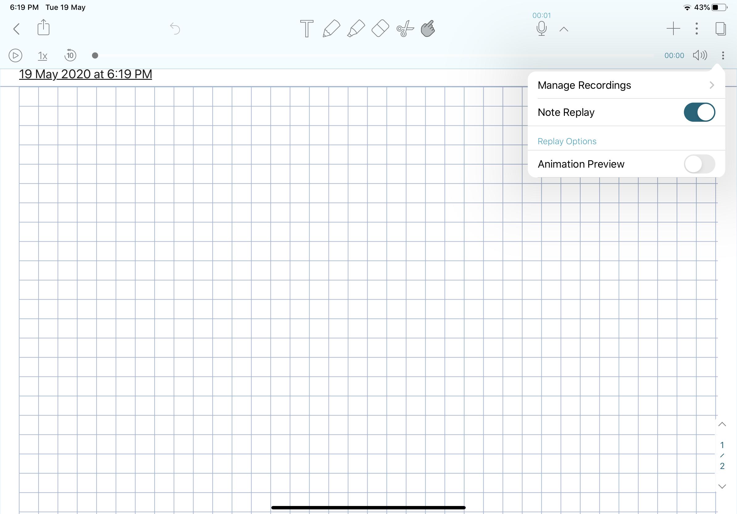 2020 notability walkthrough; Notability Record Feature