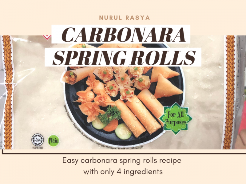 [THUMBNAIL] CARBONARA SPRING ROLLS