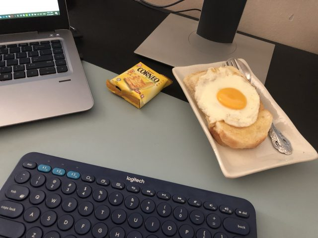 Breakfast while working from home