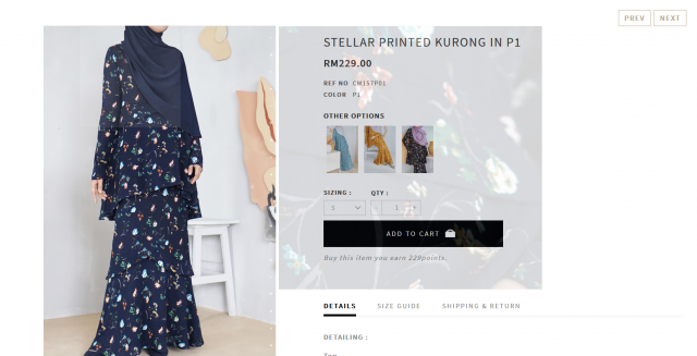 recap post; stellar printed kurong