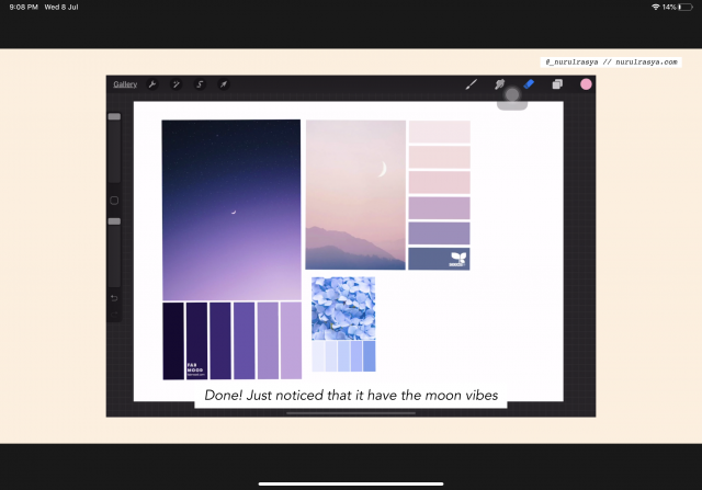 Arrange Colour Palettes On Procreate