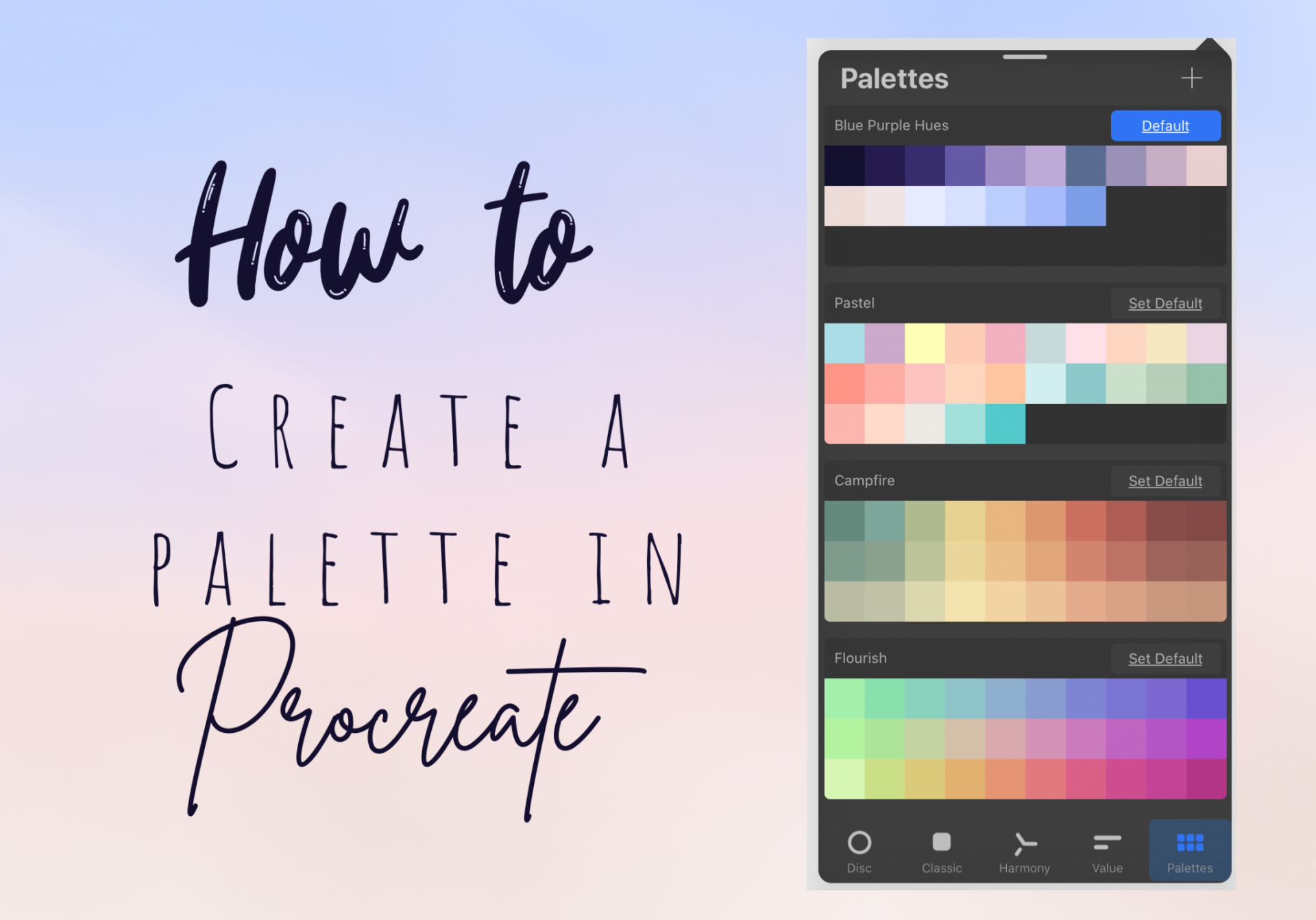 How To Create A Colour Palette In Procreate