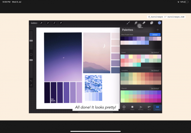 How To Create Colour Palettes On Procreate App - palettes