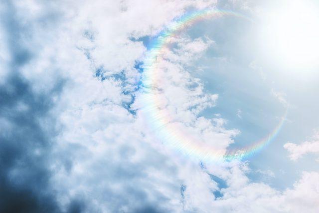 Rainbow Clear Sky