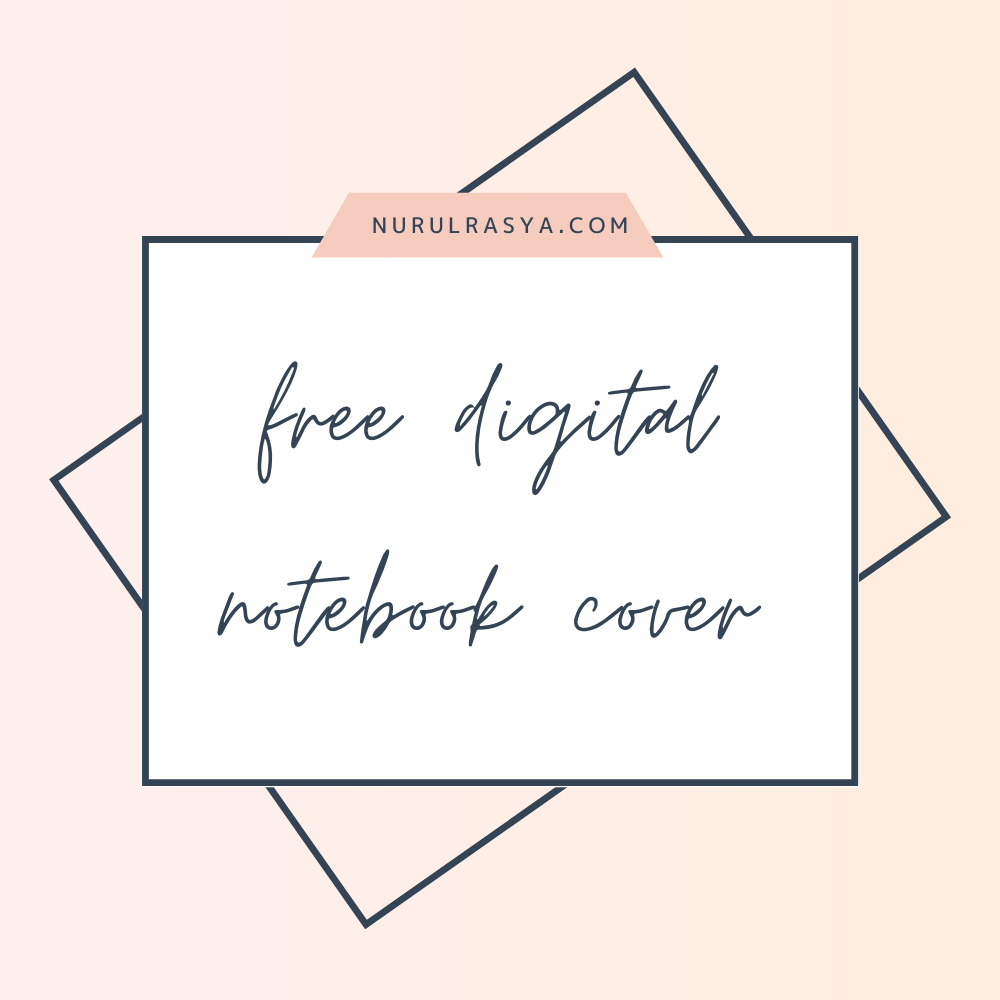 10 Free Cute Digital Notebook Cover